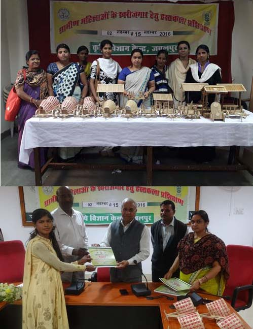 Wood handicraft training for rural women
